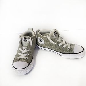 Converse sneakers green shell toe hi tops 2 1/2